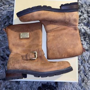 Brown Leather MICHAEL KORS Brandy Boots